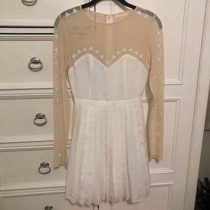 White Geometrical Dress
